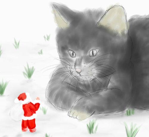Santa_and_cat_2